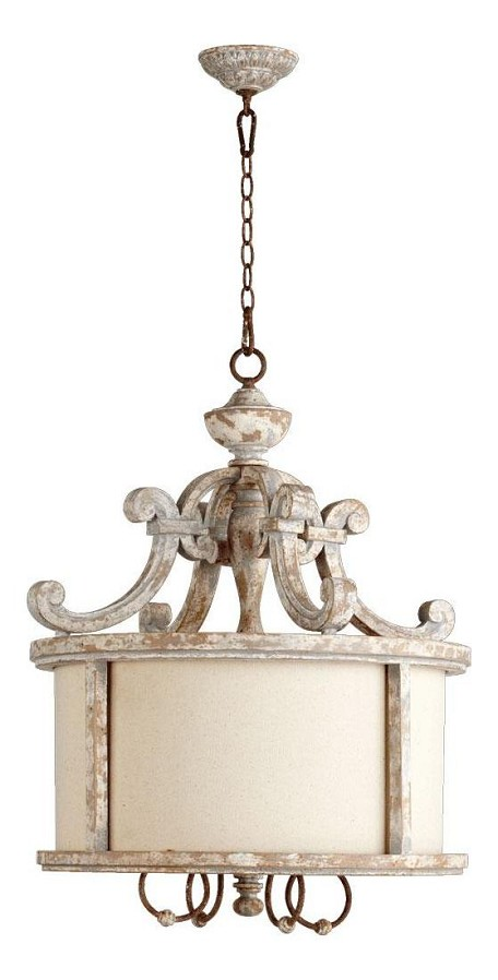 "La Maison Family 4-Light 30"" Manchester Grey w/ Rust Accents Pendant 8052-4-56"