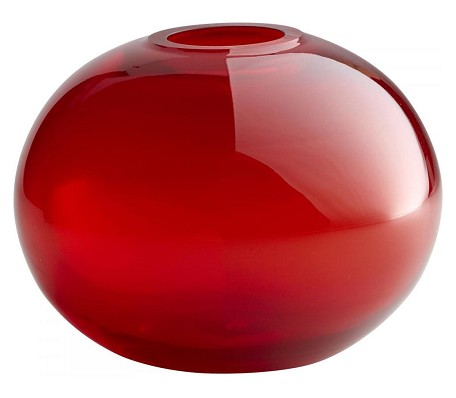 Red 7.5in. Small Red Pod Vase