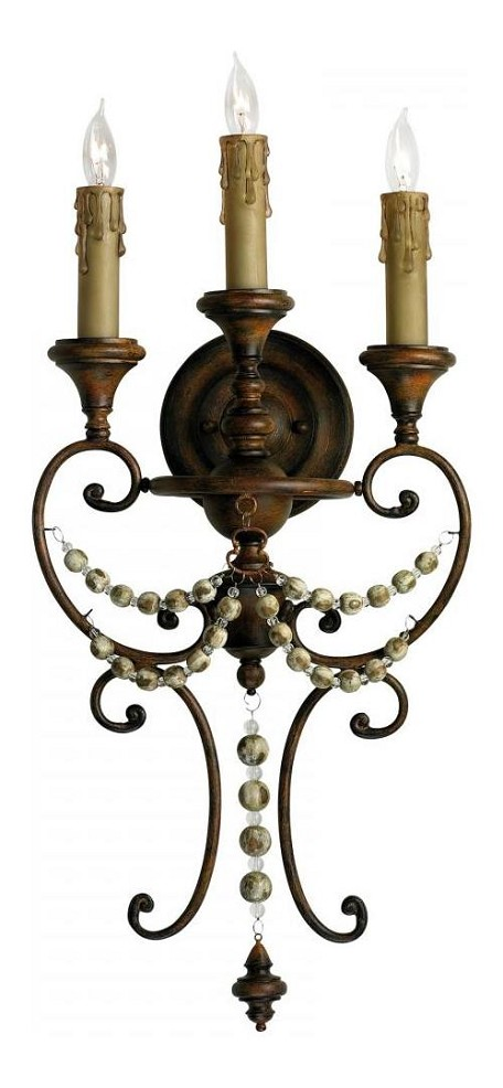 26.25in. Meriel Three Light Wall Sconce from the Lighting Collection
