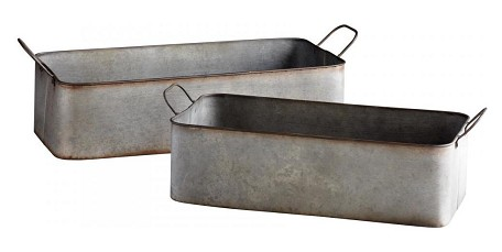 Rustic Iron 8in. Camden Containers 2 Piece Set