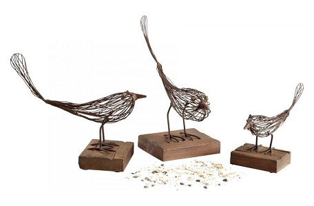 Rustic 10.25in. Large Birdy Sculpture