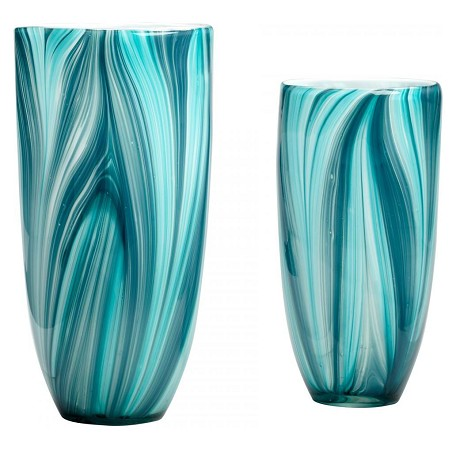 Turquoise Blue 11.81in. Large Turin Vase