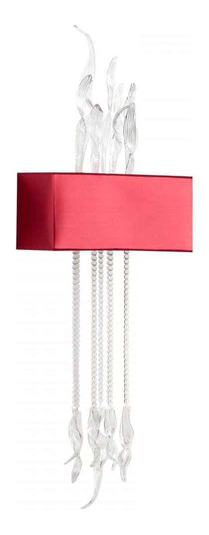Red and Clear Islet 1 Light Wall Sconce