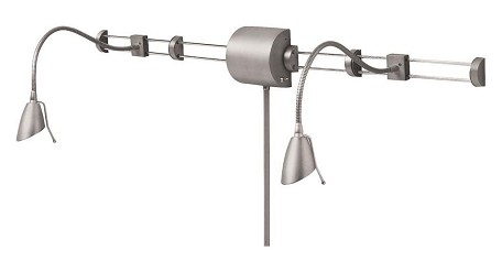 Swing Arm - Over Bed Reading Light - DLHAW101 - Satin Chrome