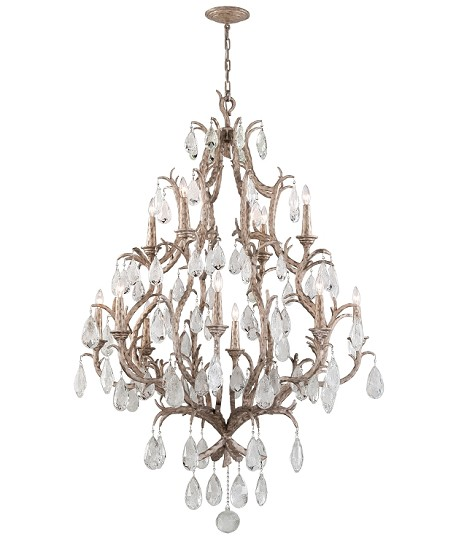 "Amadeus Collection 12-Light 46"" Vienna Bronze Chandelier with Italian Glass Drops 163-712"
