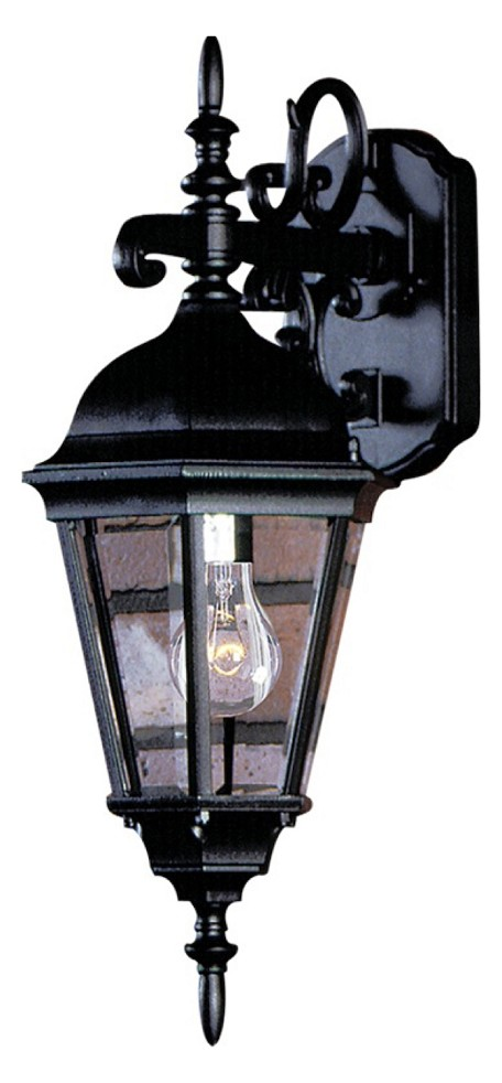 Black Small Outdoor Hexagonal Wall Lantern From The Tudor Collection