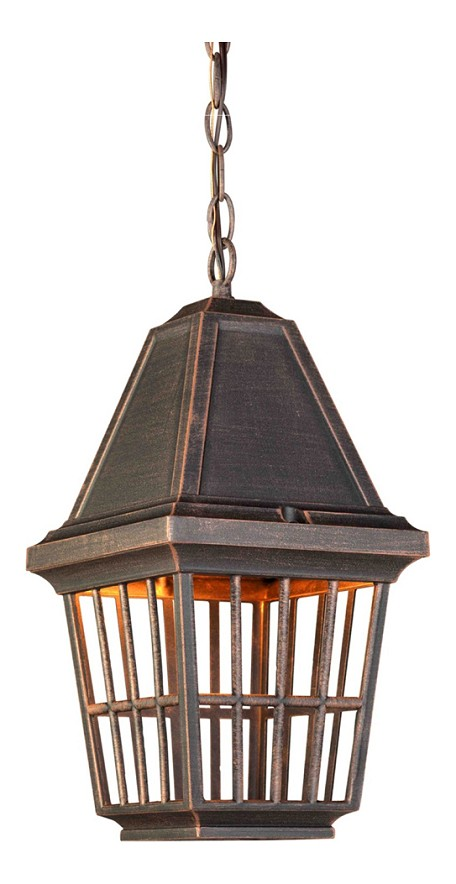 One Light Rust Hanging Lantern