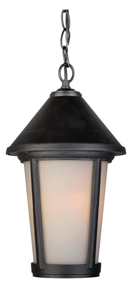 One Light Black Hanging Lantern