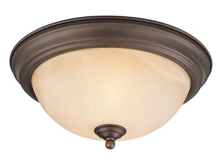 Jeremiah One Light Old Bronze Painted Glass Bowl Flush Mount - 20011-OB