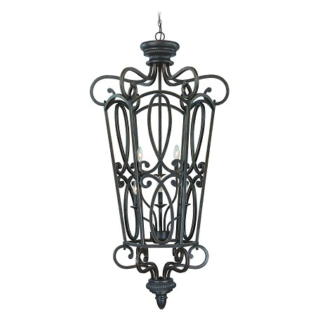 "Highland Place Collection 6-Light 56"" Mocha Bronze Foyer 25236-MB"