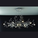 "Fusion Series 12-Light 47"" Polished Chrome Oval Crystal Chandelier SKU# 16764"