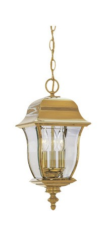 "Gladiator Collection 10"" Hanging Lantern Solid Brass 1554-PVD-PB"