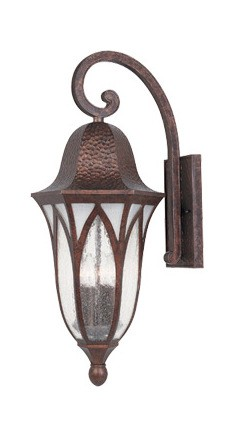 Burnished Antique Copper 4 Light 11in. Cast Aluminum Wall Lantern from the Berkshire Collection