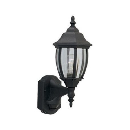 Designers Fountain One Light Black Clear Glass Wall Lantern - 2420MD-BK