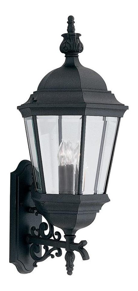 Black 3 Light 13in. Cast Aluminum Wall Lantern from the Abbington Collection