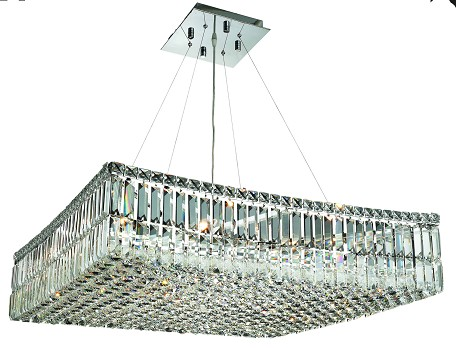"Maxim Collection 12-Light 28"" Chrome Pendant with Clear Royal Cut Crystal 2032D28C/RC"