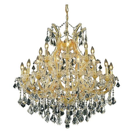 "Maria Theresa Collection 24-Light 36"" Gold Chandelier with Clear Royal Cut Crystal 2800D36G/RC"