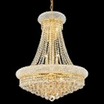 Bagel Design 14-Light 32'' Gold or Chrome Chandelier with European or Swarovski Crystal  SKU# 10117