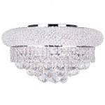 "Primo Collection 8-Light 16"" Chrome Flush Mount with Clear Royal Cut Crystal 1800F16C/RC"