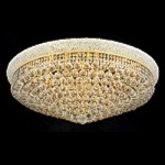 Bagel Design 20-Light 36'' Gold or Chrome Round Ceiling Flush Mount Dressed with European or Swarovski Crystals SKU# 10134