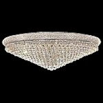 Bagel Design 33-Light 48'' Chrome or Gold Round Ceiling Flush Mount Dressed with European or Swarovski Crystals SKU# 10138