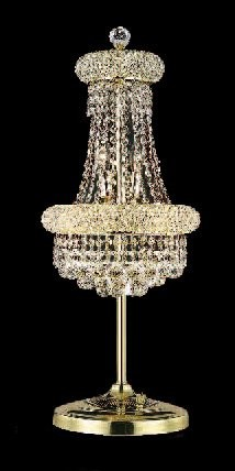 "Primo Collection 6-Light 26"" Gold Crystal Table Lamp 1800TL12G"