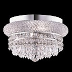 Bagel Design 4-Light 12'' Chrome or Gold Round Ceiling Flush Mount with European or Swarovski Crystals SKU# 10155