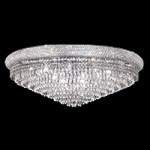 Bagel Design 20-Light 36'' Chrome or Gold Round Ceiling Flush Mount Dressed with European or Swarovski Crystals SKU# 10161