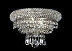 Bagel Design 2-Light 12'' Chrome or Gold Wall Sconce Dressed with European or Swarovski Crystals SKU# 10186