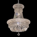 Bagel Design 8-Light 22'' Chrome or Gold Mini Chandelier Dressed with European or Swarovski Crystals SKU# 10168