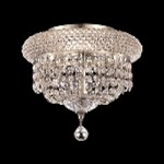 Bagel Design 3-Light 10'' Chrome or Gold Ceiling Flush Mount with European or Swarovski Crystals SKU# 10176