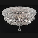 Bagel Design 10-Light 20'' Chrome or Gold Ceiling Flush Mount Dressed with European or Swarovski Crystals SKU# 10180