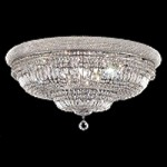 Bagel Design 20-Light 36'' Chrome or Gold Ceiling Flush Mount Dressed with European or Swarovski Crystals SKU# 10183