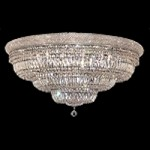Bagel Design 30-Light 42'' Chrome or Gold Ceiling Flush Mount Dressed with European or Swarovski Crystals SKU# 10184