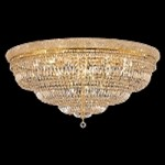 Bagel Design 33-Light 48'' Gold or Chrome Ceiling Flush Mount Dressed with European or Swarovski Crystals SKU# 10185