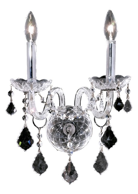 "Alexandria Collection 2-Light 13"" Chrome Wall Sconce with Clear Royal Cut Crystal 7831W2C/RC"