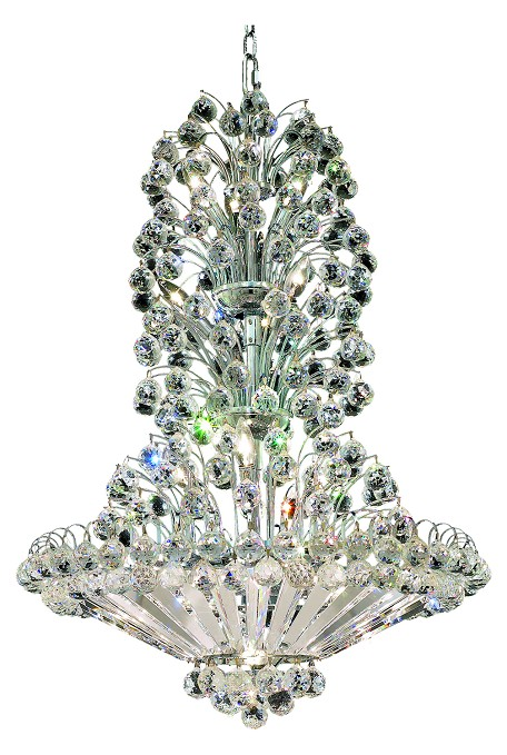 "Sirius Collection 14-Light 28"" Chrome Chandelier with Clear Royal Cut Crystal 2908D28C/RC"