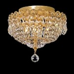 Empire Design 4-Light 12'' Chrome or Gold Ceiling Flush Mount with European or Swarovski Spectra Crystal Strands  SKU# 10193