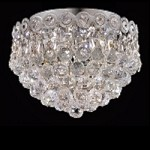 Empire Design 3-Light 10'' Chrome or Gold Ceiling Flush Mount with European or Swarovski Crystals SKU# 10204