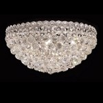 Empire Design 9-Light 20'' Gold or Chrome Ceiling Flush Mount with European or Swarovski Crystals SKU# 10209