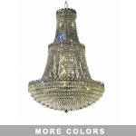 Empire Design 17-Light 48'' Chrome or Gold Chandelier with European or Swarovski Crystals SKU# 10213