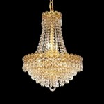 Empire Design 8-Light 20'' Chrome or Gold Mini Chandelier with European or Swarovski Crystals SKU# 10210