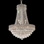 Empire Design 12-Light 26'' Gold or Chrome Chandelier with European or Swarovski Crystals SKU# 10211