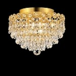 Empire Design 4-Light 12'' Chrome or Gold Ceiling Flush Mount with European or Swarovski Crystals SKU# 10215