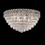 Empire Design 9-Light 20'' Chrome or Gold Ceiling Flush Mount with European or Swarovski Crystals SKU# 10219