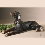 Resting Dog Statue - 19070