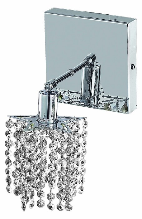 "Mini Collection 1-Light 6"" Chrome Wall Sconce with Clear Swarovski Spectra Crystal 1281W-S-P-CL/SA"