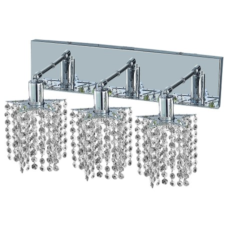 "Mini Collection 3-Light 14"" Chrome Wall Sconce with Clear Swarovski Spectra Crystal 1283W-O-P-CL/SA"