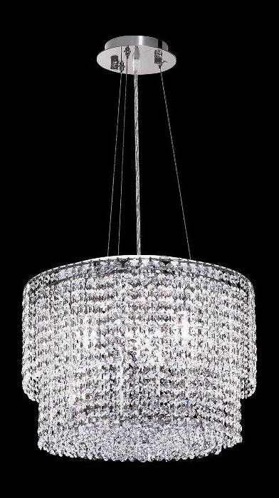 "Moda Collection 4-Light 16"" Chrome Pendant with Light Topaz Yellow Swarovski Strass Crystal 1298D16C-LT/SS"