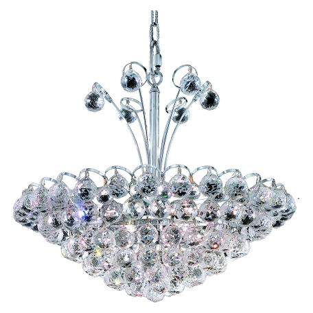 "Godiva Collection 8-Light 22"" Chrome Pendant with Clear Swarovski Spectra Crystal 2001D22C/SA"